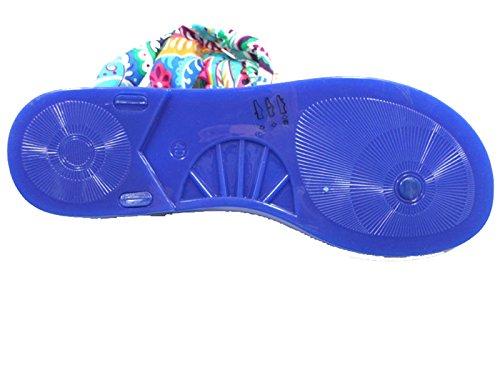COLORS OF CALIFORNIA sandali infradito donna blu gomma