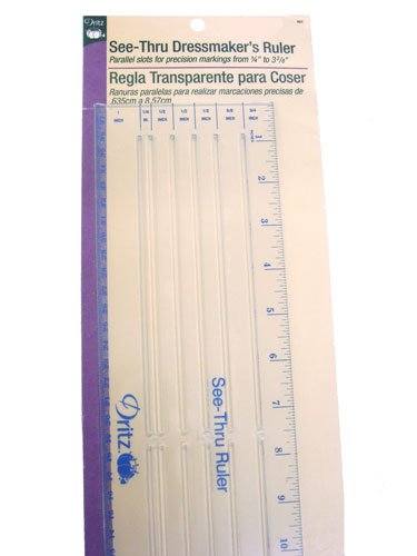 Dritz See-Thru Dressmaker'S Ruler Buttonhole Fabric