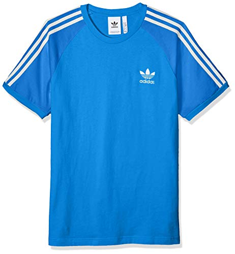 adidas Originals Men's 3-Stripes Tee, Blue Bird, ()