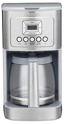 Cuisinart DCC-3200 14C Glass Carafe with Stainless Steel Handle Programmable Coffeemaker, Light Grey - Grey Coffee Machine