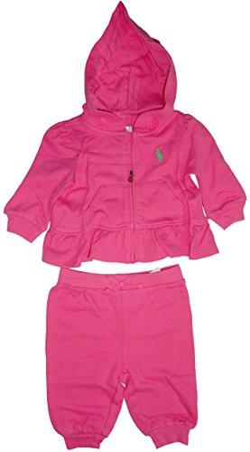 Ralph Lauren 2 Piece Set Pique Hoodie Pink 3 MO