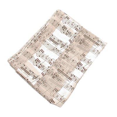 Scarf Satin Stripe Sheet White with Black Imprint