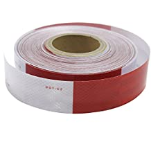 "Brightplus 2""X150' DOT C2 Reflective Conspicuity Diamond Grade Tape, Automotive, Motorcycle, Trailer Tractor Truck Reflectors, Safety Caution Warning Tape"