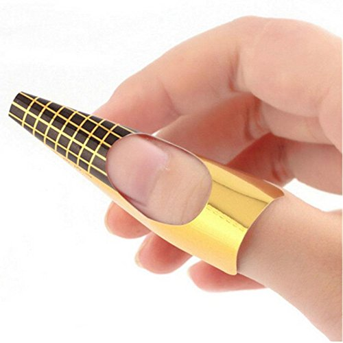 350buy-100-x-golden-nail-art-tips-extension-forms-guide-french-diy-tool-acrylic-uv-gel