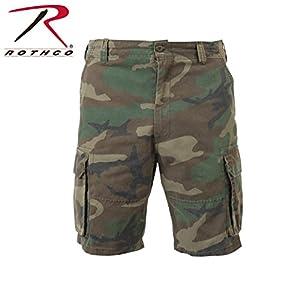 Rothco The Vintage Paratrooper Cargo Shorts,Medium, Woodland Camo