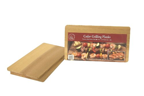 Natures Cuisine NC004-210 Cedar Grilling Planks, 5-1/2-Inch by 10-Inch by 5/16-Inch, 2 Count