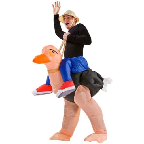 [Inflatable Ostrich Rider Halloween Costume] (Halloween Ostrich Rider Costume)
