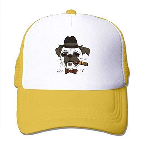 Cool Guy Print Adjustable Trucker Sun Hats Mesh Sports Baseball Caps (Adjustable Hat Womens Charlie)