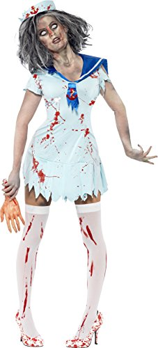 Zombie Sailor Girl Costume - Smiffys Women's Zombie Sailor Costume