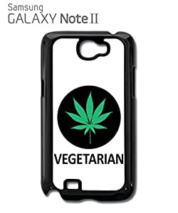 Vegetarian Cannabis Weed Mobile Cell Phone Case Samsung Note 2 Black