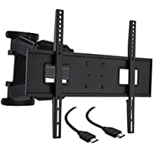 "Cattail TV Wall Mount Bracket With Full Motion Swing Out Tilt for most 32"" 37 ""42"" 46 ""47 ""50"" 52"" 55"" 60"" 65""LED LCD OLED Plasma Flat Screen Monitor up to 110 Lbs VESA 400x600mm,includes HDMI Cable."