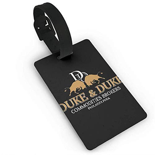 Trading Places Duke And Duke Printed Design PVC Luggage Tag Travel Suitcase ID Labels Accessories Leather Wristband