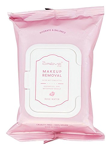 The Creme Shop - Makeup Removal Pre-Wet Towelettes Rose Water - 30 Towelette(s)