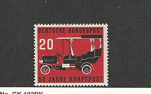 - Germany, Postage Stamp, 728 Mint LH, 1955 Automobile