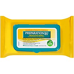 Preparation H Flushable Medicated Hemorrhoidal Wipes With Witch Hazel And Aloe Package (48 Count, Pack Of 4)