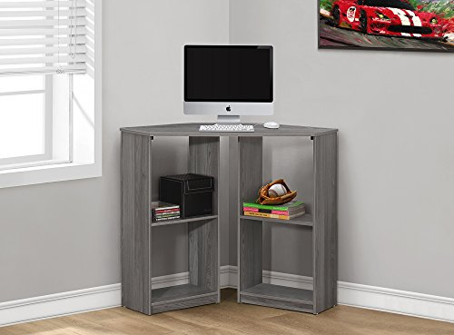 "36""LONG JUVENILE GREY CORNER COMPUTER DESK Furnituremaxx"