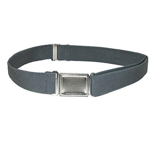 CTM Kids' Elastic 1 Inch Adjustable Belt with Magnetic Buckle, Charcoal Grey