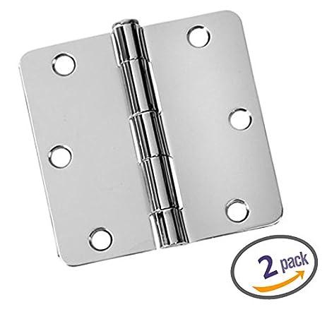 Dynasty Hardware 3 1/2u0026quot; Door Hinges 1/4u0026quot; Radius Corner