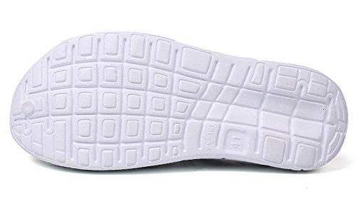 Mare da Sandali Bianco Clogs Sabot Donna da Pantofole Nero Unisex Respiranti Zoccoli Spiaggia Eagsouni Uomo Casual Estate Scarpe IT50nAqf