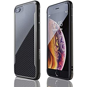 iPhone 7 Plus Case | iPhone 8 Plus Case | Shockproof | 12ft. Drop Tested | Carbon Fiber Case | Wireless Charging | Lightweight | Scratch Resistant | Compatible with Apple iPhone 7 Plus/8 Plus – Black
