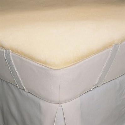 "Deluxe Wool Mattress Pad - SnugSoft by SnugFleece - 1"" pile, 40 oz Wool/Yard, Washable from SnugFleece"