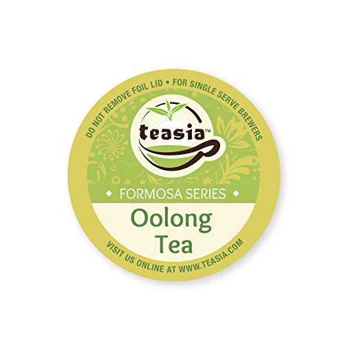 Teasia All Natural Oolong Tea, 36-count 2.0 COMPATIBLE K-Cup Hot Tea Iced Tea Capsules Tea Pods for Keurig Brewers (Keurig Detox Tea)