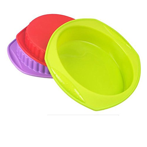 Silicone Baking Pans Purple Round Chiffon Cake Tools Greatly Reducing The Failure Rate Of Release Classic Popular Square Thick Non-slip Edge Design