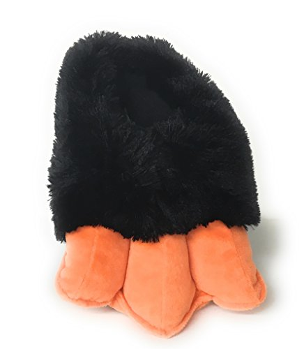 - Wild Ones Furry Animal Claw Slippers for Toddlers, Kids and Adults (Medium Youth Big Kids 3 to 7, Penguin Feet Sound)