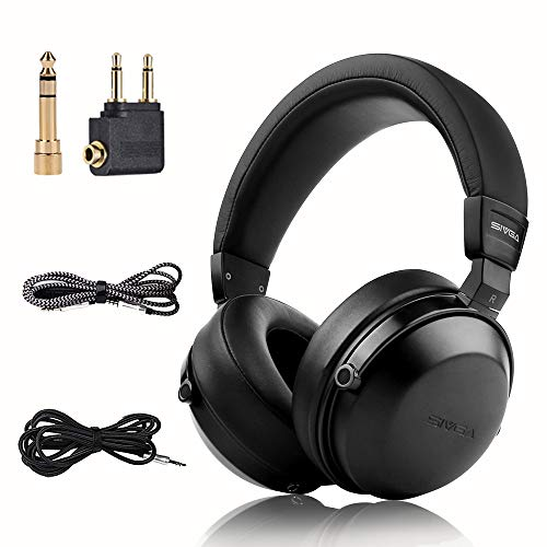 SIVGA SIVGA SV003 Wooden Over-Ear Noise Cancelling Hi-Fi Stereo Studio Monitoring Close Back Headphones with Soft Earmuffs & Headset, Microphone, Leather Case (Black) price tips cheap