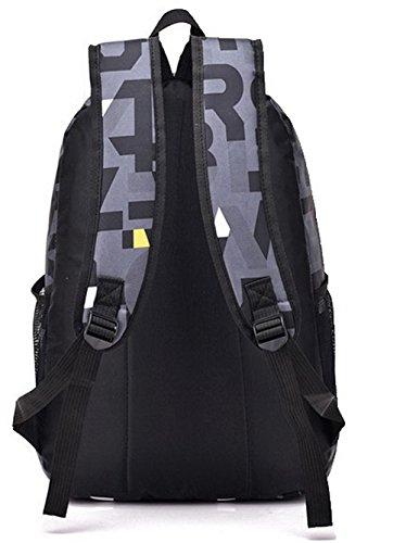 FBUFBD181093 dos Gris Sacs Daypacks à randonnée de AllhqFashion Femme Dacron Zippers Mode Daypack UwxSPaq