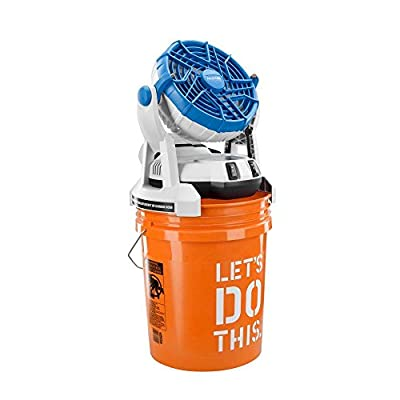 Arctic Cove MBF0181 18-Volt Two Speed Misting Bucket Top Fan