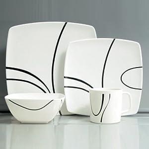 Hekers Melamingeschirr 16 Teile Zen Design