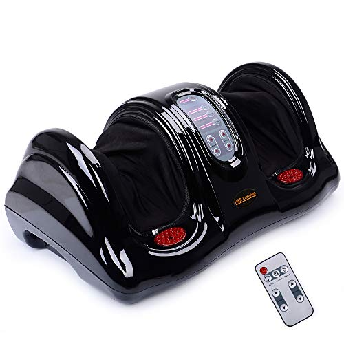 H&B Luxuries Shiatsu Kneading Rolling Foot Massager Personal Health Studio ZH-9902-black