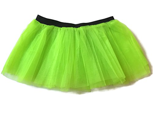[Rush Dance Running Skirt Teen or Adult Princess Costume Runners Rave Race Tutu (Lime)] (Spartan Princess Costumes)