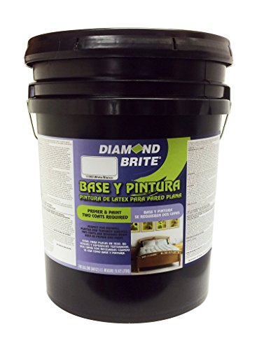 Diamond Brite Paint 11900-5 Flat Paint and Primer in One, 5-Gallon, White (5 Gallon Flat)