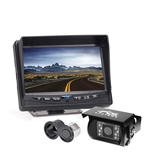 Backup Camera System with Integrated Rear Proximity Sensors by Rear View Safety RVS-770613-NM-112-01