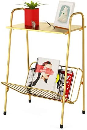Gold Modern Farmhouse Metal Side Table,End Table