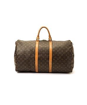 Authentic Women s Vintage Louis Vuitton Keepall 55 Brown Monogram Travel Bag   Amazon.co.uk  Luggage 284eda7b27