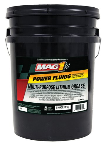 Mag 1 (10321) Gold Multi-Purpose Lithium Grease - 5 Gallon Pail by Mag 1