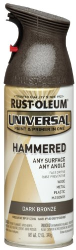 Rust-Oleum 258199 Universal All Surface Spray Paint, 12 oz, Hammered Dark Bronze