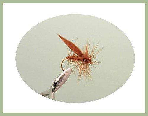 size 10,Trout Flies Fishing Flies Dry Trout Flies 8 Black Horned Sedge