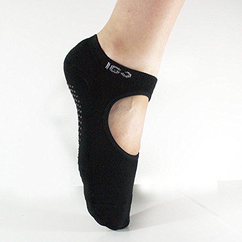 IGO Women's Ballet Grip Socks for Barre Pilates Yoga zumba & Fitness Dance and others Anti-shock & Anti-Slip comfortable