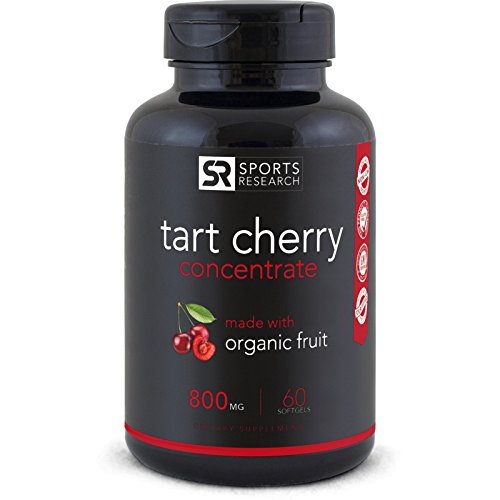 Tart Cherry Concentrate - Made from Organic Cherries; Non-GMO & Gluten Free; Packed with Antioxidants and Flavonoids - 60 Liquid Softgels, 2 Month - 2 Supply Month