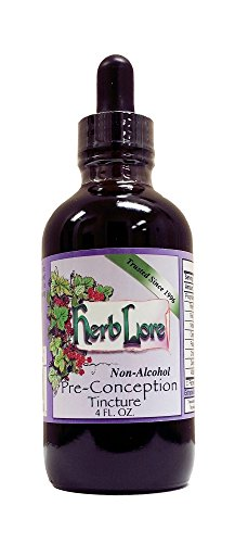 Herb Lore Organic Pre-Conception Fertility Tea Tincture, 4 Ounces, Sweet Non-Alcohol Base, Natural Herbal Fertility Blend to Enhance Fertility in Women and Improve Chances of Getting Pregnant