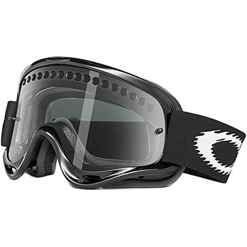 Oakley O-Frame MX Goggles (Jet Black Frame/Dk Grey Lens, One Size)