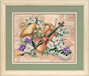"Dimensions Stamped Cross Stitch Kit,""Floral Harmony"",14"" x11"
