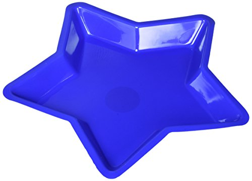 Shaped Serving Dish - Amscan Red, White and Blue Start Shaped Serving Tray Patriotic 4th of July Party Serveware, Plastic, 12