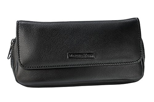 Martin Wess Germany ''Lea'' Soft Nappa Leather 2 Pipe Combo Case Tobacco Pouch by Martin Wess
