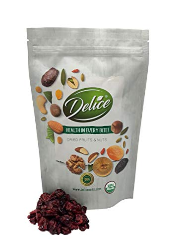 (Organic Dried Sweetened Cranberries (Non-GMO and Unsulphured|No Pesticides or Herbicides | No Artificial Color or Flavor) Fresh and Delicious Dried Cranberries In Resealable Bags!!! (1 LB))