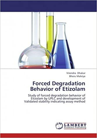 Forced Degradation Behavior of Etizolam: 9783659456008: Amazon com